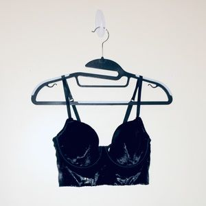 NWT Victoria's Secret: 34B Black Shimmer Bralette